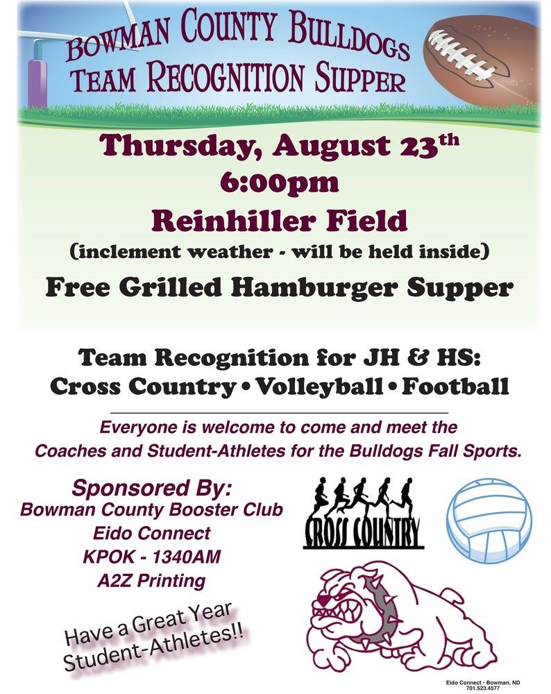 Bowman County Booster Club Meet and Greet