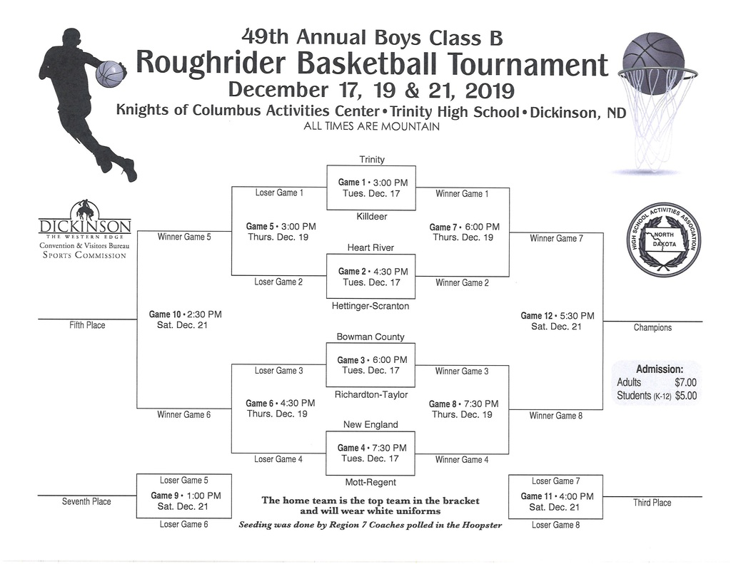 Boys Roughrider Bracket